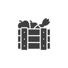 Fruits Crate Box Vector Icon. ...