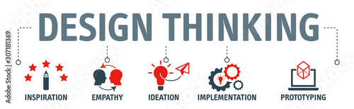 Obraz design thinking process illustration vector concept - fototapety do salonu