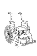 Wheelchair Cartoon Illustratio...