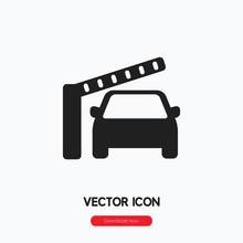 Car Barrier Icon Vector. Linea...