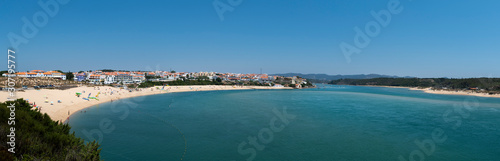 Photo Panoramic view of the village of Vila Nova de Mil Fontes with the beach and the