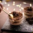 Leinwandbild Motiv Christmas dessert tiramisu