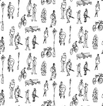Seamless Pattern Made Of Hand ...