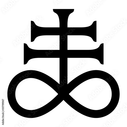 Alchemy sulfur symbol Fototapeta