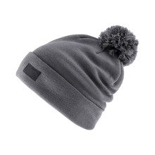 Gray Wool Ski Knit Hat With A ...