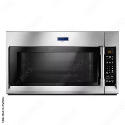 Microwave Oven Isolated on White Background Canvas Print