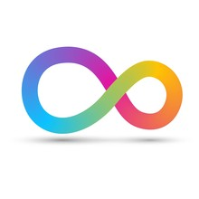Colorful Infinity Sign With St...