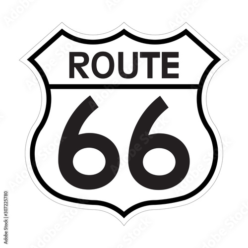 US route 66 sign Wallpaper Mural
