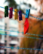 Clothes Peg On A Line