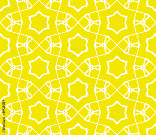 Obraz na plátne Abstract thin line seamless pattern