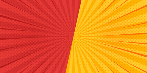Comic radial speed lines background. Vector illustration.