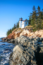 Bass Harbor Head Lighthouse In Acadia National Park