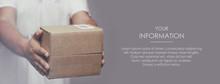 Deliveryman Hold Parcel Box. F...