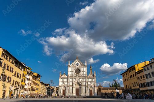 Tela  piazza basilica of santa croce in florence
