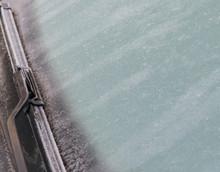 Frozen Windshield Close Up Pho...