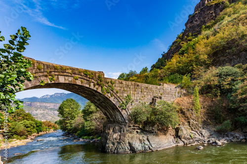 Sanahin Bridge landmark of Lorri Armenia eastern Europe
