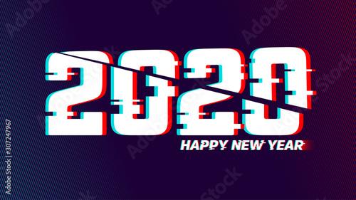 Vector glitch 2020 Canvas Print