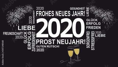 gute wünsche 2020 - frohes neues jahr Canvas Print
