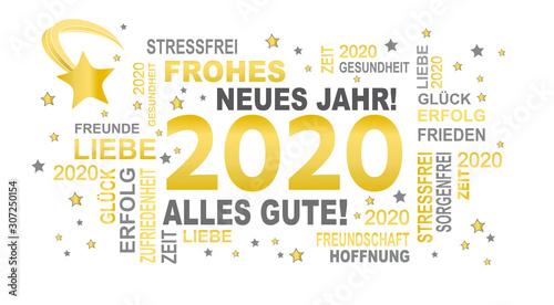 Fototapeta gute wünsche 2020 - frohes neues jahr