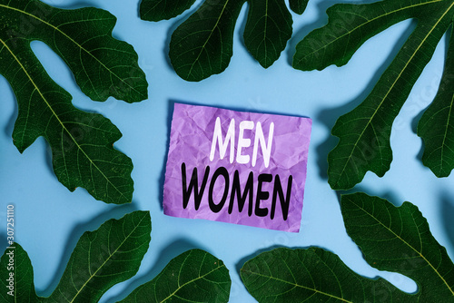 Valokuva  Word writing text Men Women