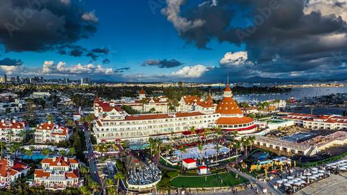 Luxury Resort Panorama on Coronado Island Canvas Print