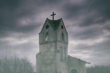 An Old Church In A Mystical Fo...