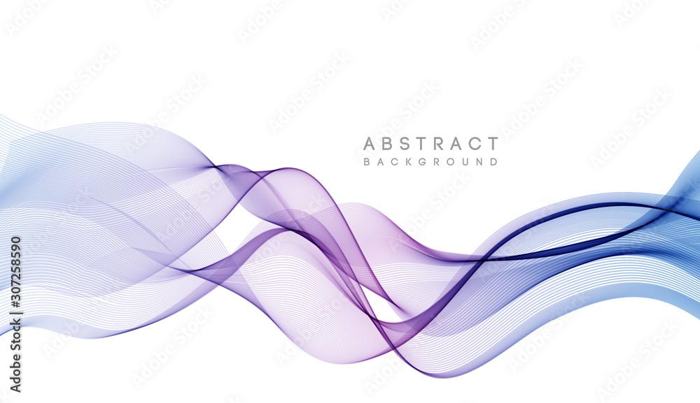 Fototapeta Abstract colorful vector background, color wave for design brochure, website, flyer.