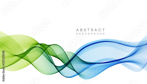 Abstract colorful vector background, color wave for design brochure, website, flyer Canvas Print