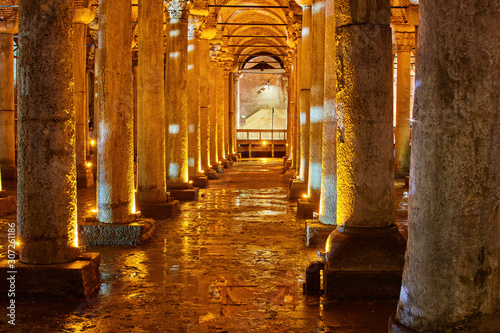 Canvas Print The Basilica Cistern - underground water reservoir build by Emperor Justinianus