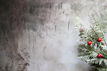 Winter Holiday Tree Background With Room For Copy