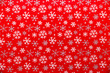 canvas print picture - Red Snowflake Wrapping Paper
