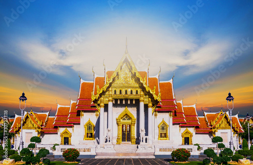 Marble Temple of Bangkok, Thailand, Wat Benchamabophit, Bangkok, Amazing Thailand Tourist attractions in Marble Temple