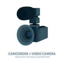 Camcorder. Realistic Video Cam...