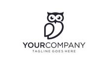 Simple And Creative Owl Logo Design Vector