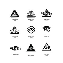 Set Of Black Horus One Eye Log...