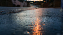 Dark Cold Night Reflection