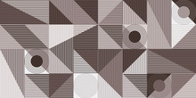 Abstract Seamless Pattern, Geometry Shapes In Brown Tones
