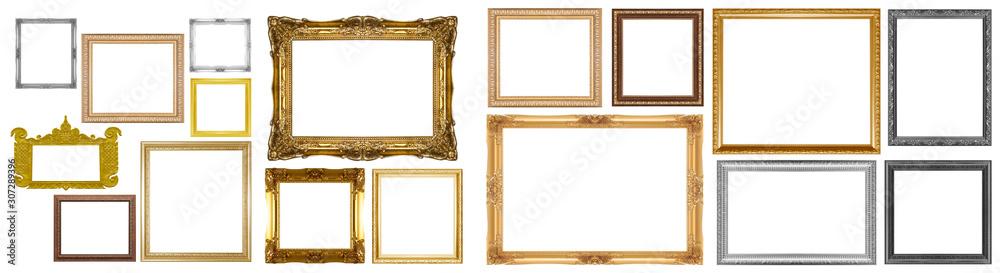 Fototapeta Old gold frame