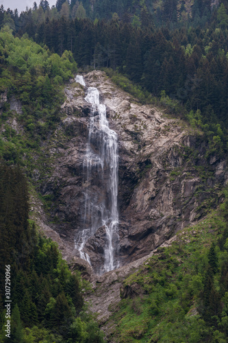A Waterfall in the Alps