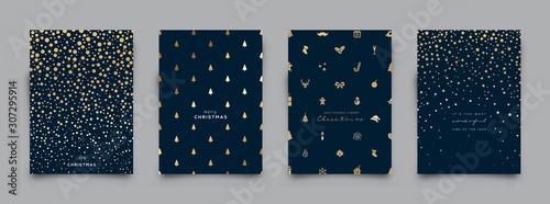 Fototapeta Holiday Greeting Card Collection. Vector Illustration. obraz