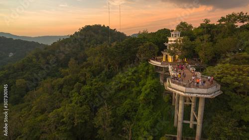 Fotografie, Obraz Khao Rang viewpoint tower landmark in Phuket town it is on Tung Ka hill in Phuket town