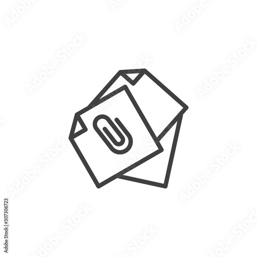 Photo Attached document files line icon