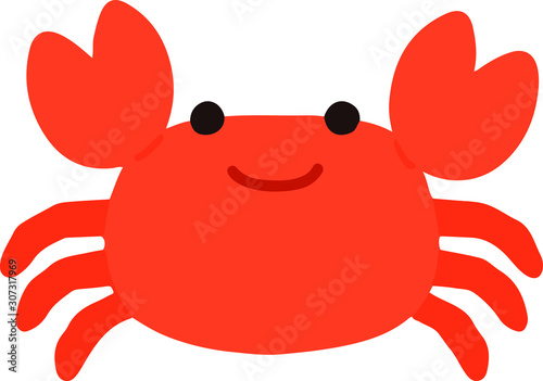 Photo Flatcolored Cute Crab