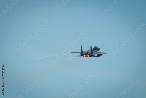 Valokuvatapetti Military aircraft flying for display