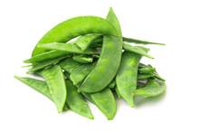 Organic Snow Peas, Isolated On...