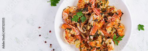 Photo Grilled shrimps