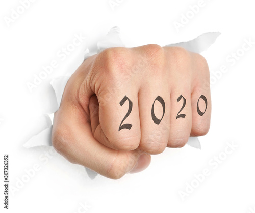 Hand with 2012 tattoo Canvas Print