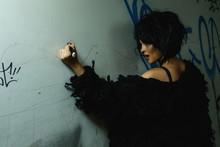 Freaky Woman In Dark Tunnel Wi...