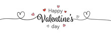 Draw Text And Little Heart For Valentine's Day On White.