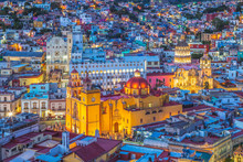 Aerial View Of Guanajuato With...